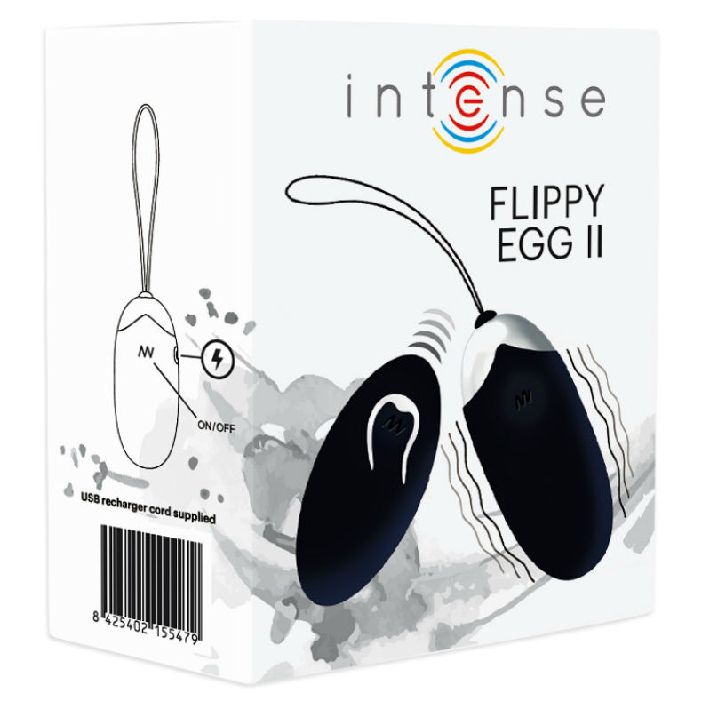 INTENSE FLIPPY II  VIBRATING EGG WITH REMOTE CONTROL BLACK