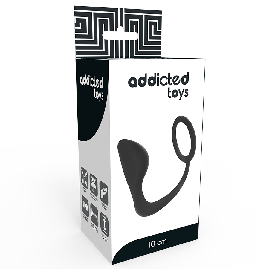 ADDICTED TOYS BUTT PLUG WITH COCK RING BLACK