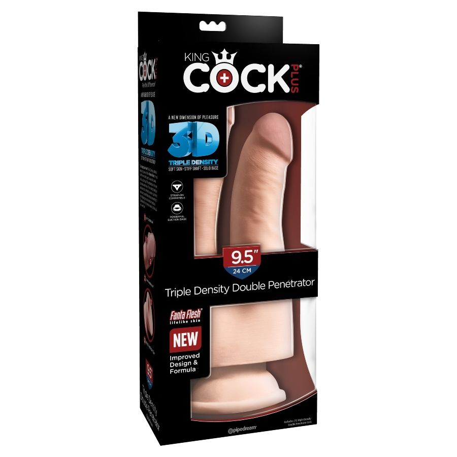 KINGCOCK TRIPLE DENSITY DOUBLE COCK 24 CM