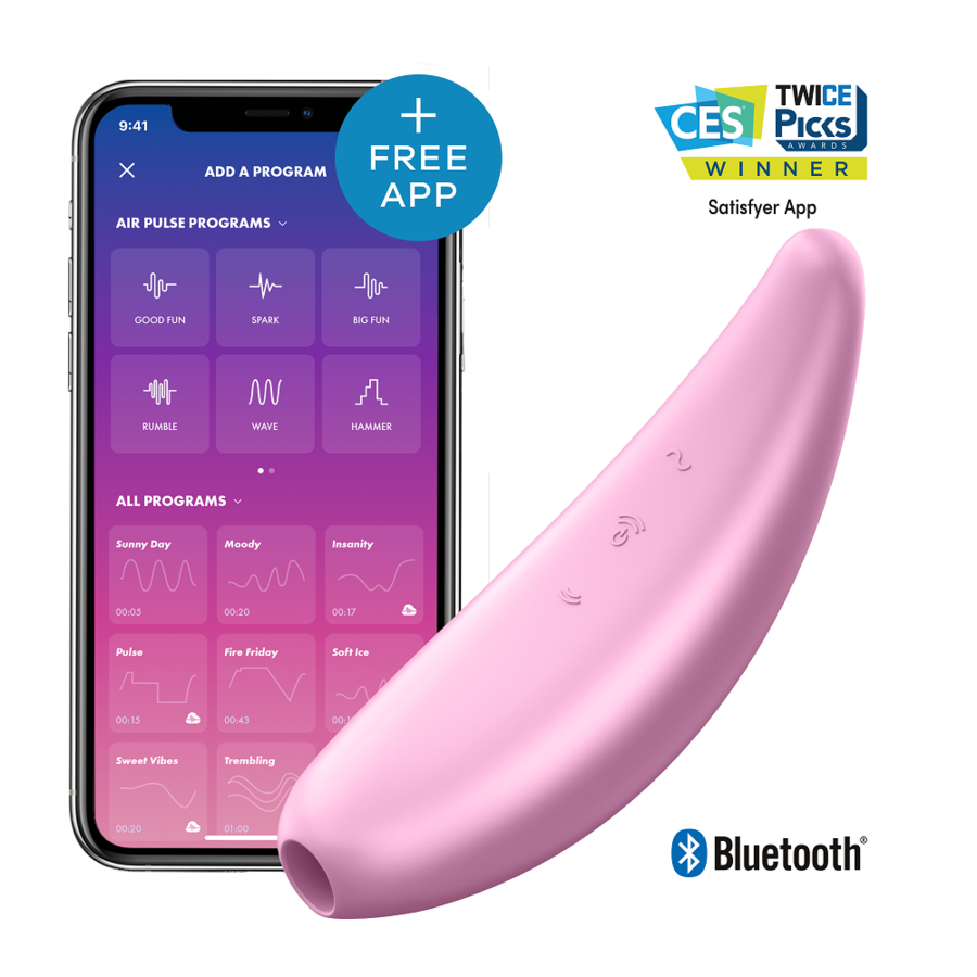 SATISFYER CURVY 3+ – PINK