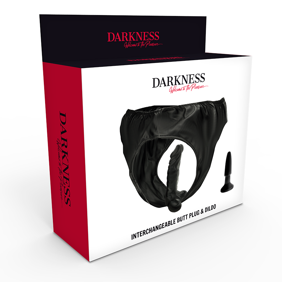 DARKNESS INTERCHANGEABLE BUTT PLUG AND DILDO